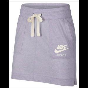 NWT! Nike women's vintage lilac skirt drawstring